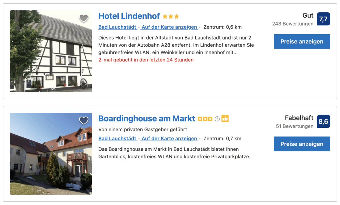 Hotel buchen Bad Lauchstädt